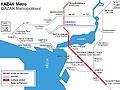 Схема Казанского метро на английском языке