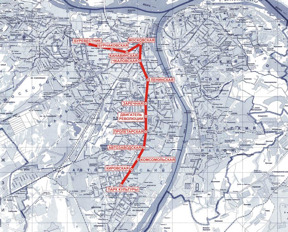 Карта метро г нижний новгород